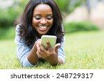 cheerful african american woman ...   Shutterstock . vector #248729317