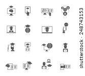 online education digital... | Shutterstock .eps vector #248743153