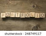 portfolio word in vintage... | Shutterstock . vector #248749117
