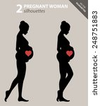 silhouette of a pregnant woman... | Shutterstock .eps vector #248751883