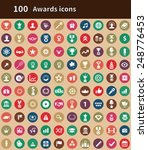 100 award icons  brown...   Shutterstock . vector #248776453