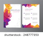 vector flyer  green and blue... | Shutterstock .eps vector #248777353