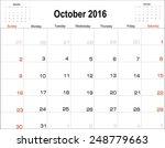 Vector Planning Calendar ...