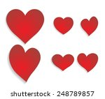 vector hearts silhouettes. set... | Shutterstock .eps vector #248789857