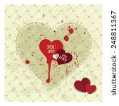 valentines card | Shutterstock .eps vector #248811367