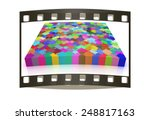 many colored puzzle pattern ... | Shutterstock . vector #248817163