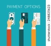 vector concept of payment... | Shutterstock .eps vector #248825623