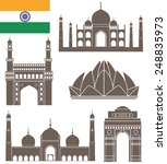 india. building. isolated... | Shutterstock .eps vector #248835973