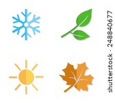 vector set of seasons icons.... | Shutterstock .eps vector #248840677