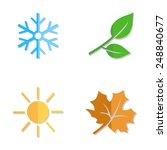 vector set of seasons icons....   Shutterstock .eps vector #248840677