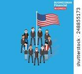 american teamwork character... | Shutterstock .eps vector #248855173