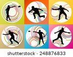 disk thrower and catcher active ... | Shutterstock .eps vector #248876833