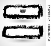 set of two black grunge banners ... | Shutterstock .eps vector #248883523