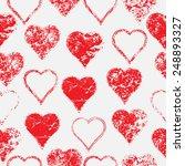heart shape. distressed texture.... | Shutterstock .eps vector #248893327