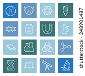 science flat icons set graphic... | Shutterstock . vector #248901487
