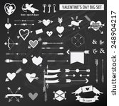 valentine's day set   on chalk... | Shutterstock .eps vector #248904217