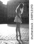 slender ballerina standing on... | Shutterstock . vector #248913193