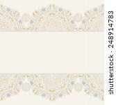vector seamless border in... | Shutterstock .eps vector #248914783