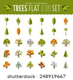 tree icon set a large set of... | Shutterstock .eps vector #248919667