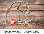 red heart measuring with