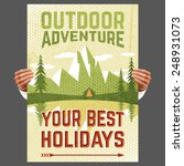 your best outdoor holiday... | Shutterstock .eps vector #248931073