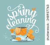 spring cleaning cheerful flat... | Shutterstock .eps vector #248937763