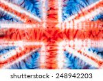 british flag. abstract tie dyed ... | Shutterstock . vector #248942203