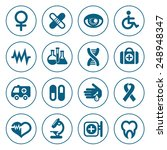 flat line medical icons set.... | Shutterstock .eps vector #248948347