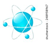 atomic icon isolated on white   Shutterstock . vector #248958967