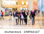 blurred shopping mall background | Shutterstock . vector #248966167