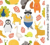 vector background with cute... | Shutterstock .eps vector #248978953