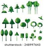 tree icons set  set of... | Shutterstock .eps vector #248997643