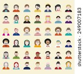 people diversity portrait... | Shutterstock .eps vector #249007183