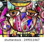 original abstract digital...   Shutterstock .eps vector #249011467
