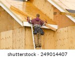 construction crew working on... | Shutterstock . vector #249014407
