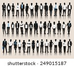vector of business silhouettes | Shutterstock .eps vector #249015187