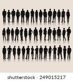 vector of business silhouettes | Shutterstock .eps vector #249015217