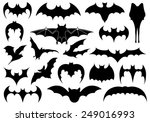illustration of different bats...