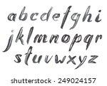 hand drawn black brush strokes...   Shutterstock .eps vector #249024157