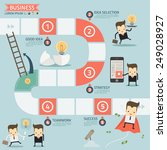 step for success business... | Shutterstock .eps vector #249028927