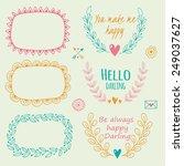 set of floral design elements.... | Shutterstock .eps vector #249037627