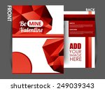 valentines day background ... | Shutterstock .eps vector #249039343