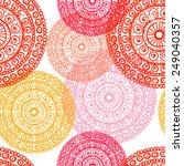 hand drawn  lace mandalas ... | Shutterstock .eps vector #249040357