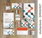 white corporate identity... | Shutterstock .eps vector #249042427
