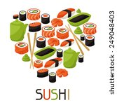 background with sushi. japanese ... | Shutterstock .eps vector #249048403