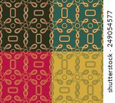 set of seamless pattern of... | Shutterstock .eps vector #249054577