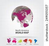 world map vector illustration   Shutterstock .eps vector #249055357