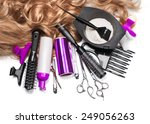 Постер, плакат: hairdresser Accessories for coloring