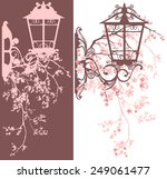 spring season street light...   Shutterstock .eps vector #249061477