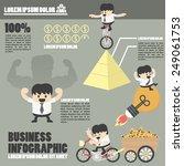 business infographics success | Shutterstock .eps vector #249061753